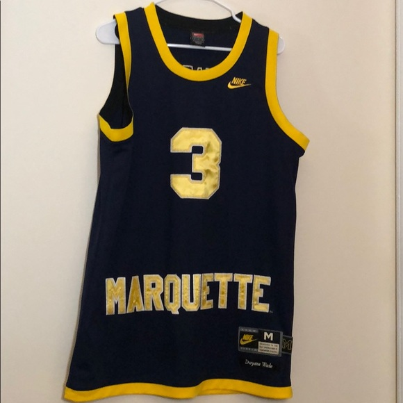 finest selection ed1f5 3195e Dwayne Wade Marquette Jersey
